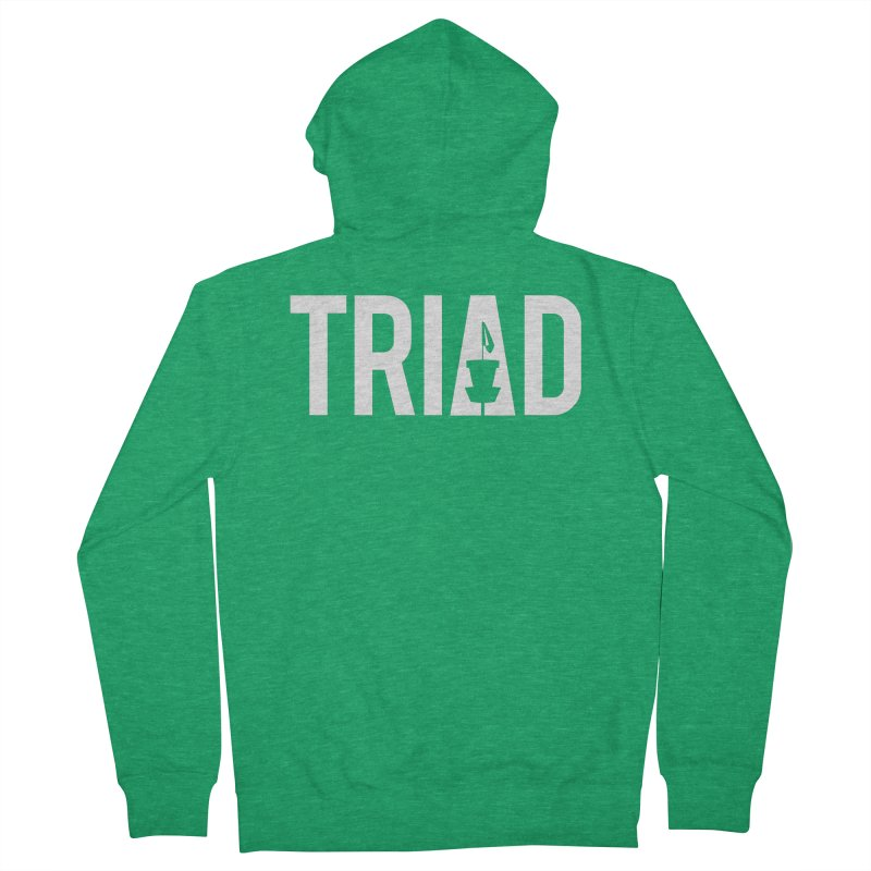 Triad Men's Zip-Up Hoody by CATCHING CHAIN DISC GOLF BRAND