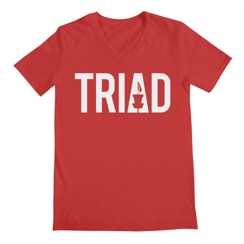 Triad Men's V-Neck by CATCHING CHAIN DISC GOLF BRAND