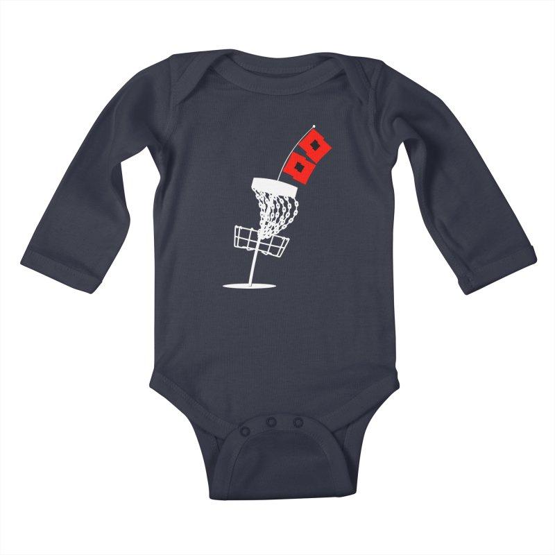 Hurricane Disc Golf Kids Baby Longsleeve Bodysuit by CATCHING CHAIN DISC GOLF BRAND