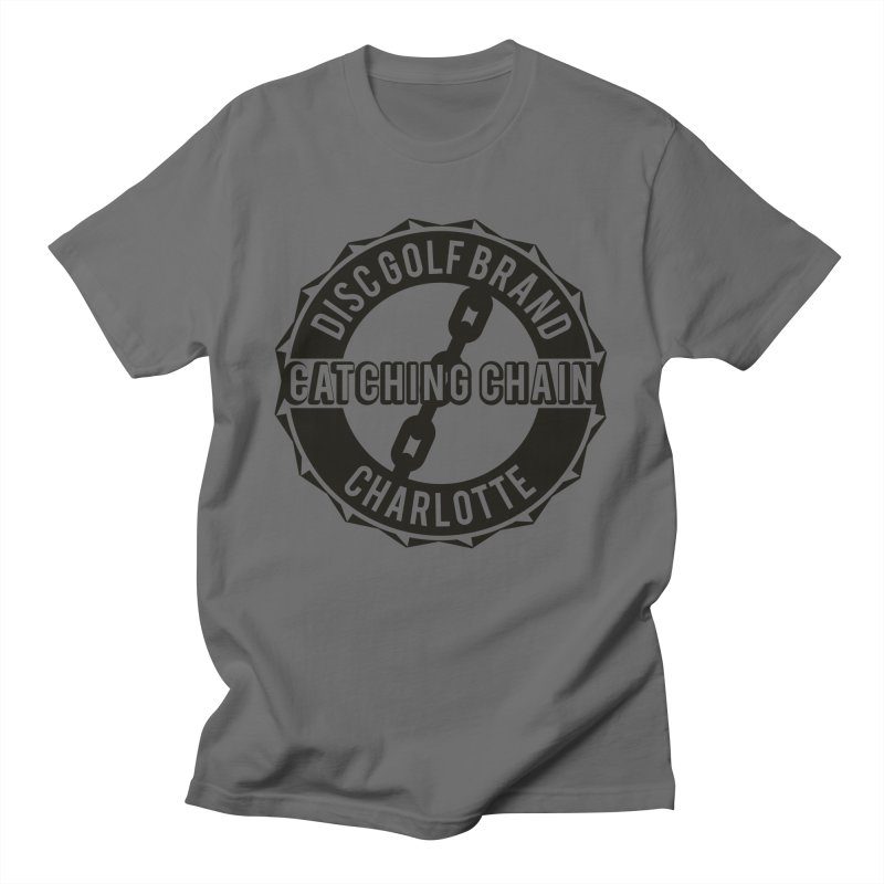 Catching Chain Disc Golf Brand Men's T-Shirt by CATCHING CHAIN DISC GOLF BRAND