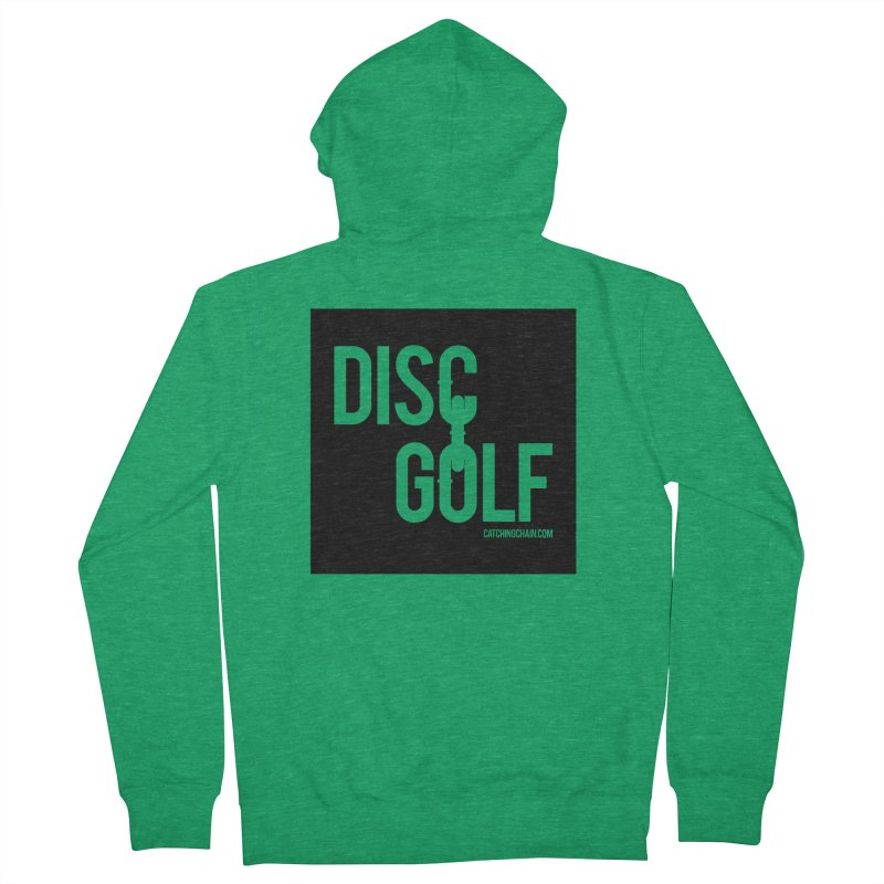 Forever Linked Men's Zip-Up Hoody by CATCHING CHAIN DISC GOLF BRAND