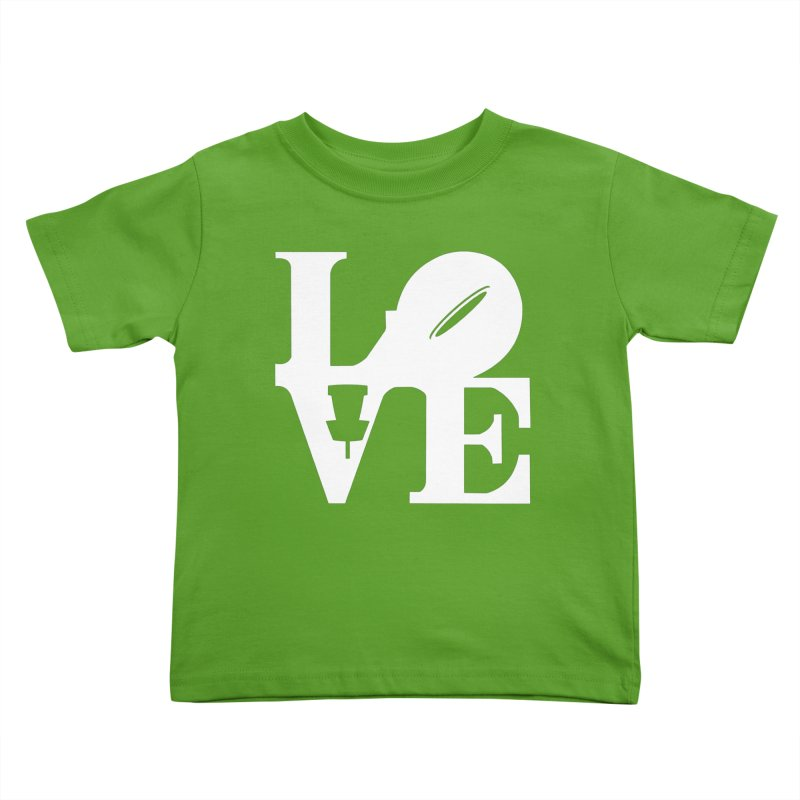 Disc Golf Love Kids Toddler T-Shirt by CATCHING CHAIN DISC GOLF BRAND