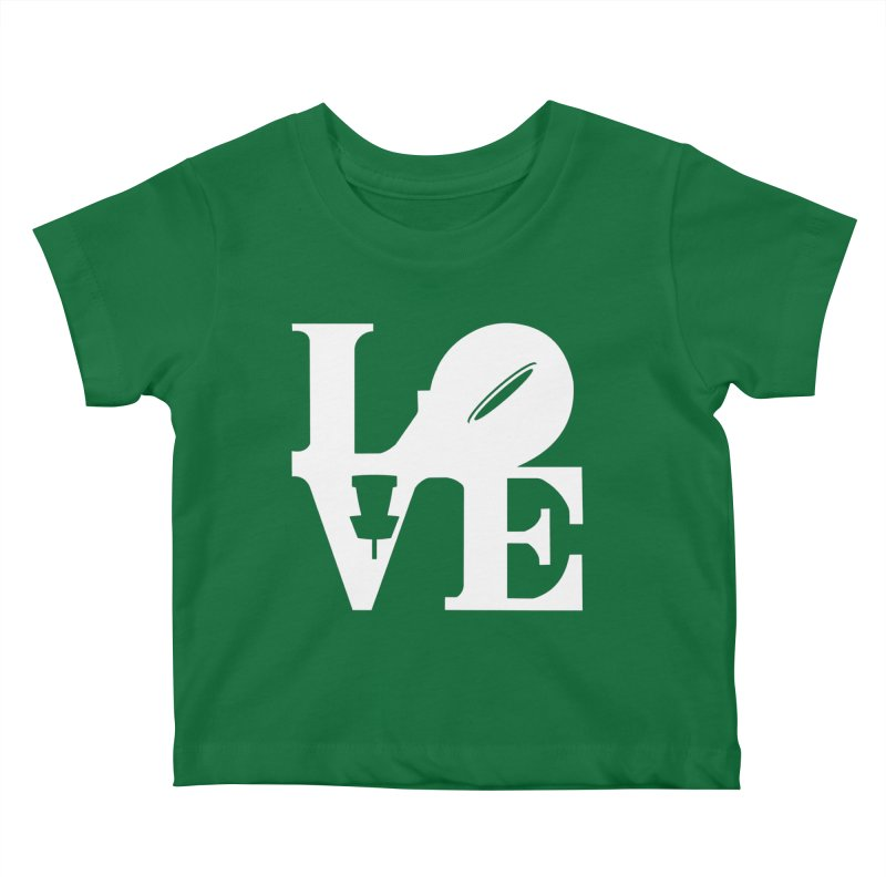 Disc Golf Love Kids Baby T-Shirt by CATCHING CHAIN DISC GOLF BRAND