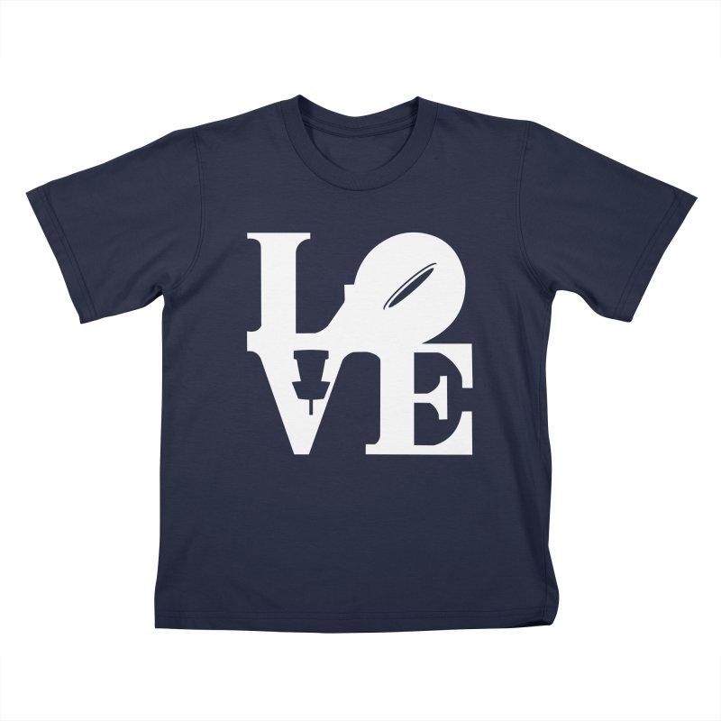 Disc Golf Love Kids T-Shirt by CATCHING CHAIN DISC GOLF BRAND