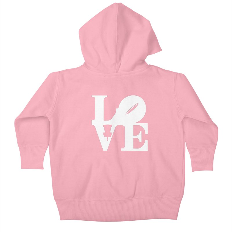 Disc Golf Love Kids Baby Zip-Up Hoody by CATCHING CHAIN DISC GOLF BRAND