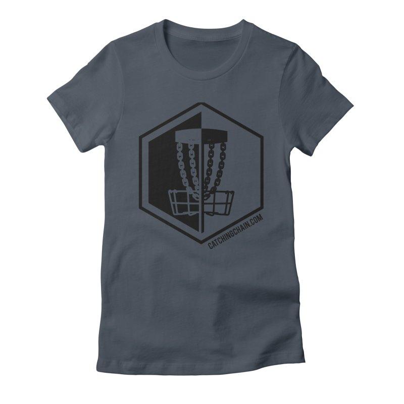 Catching Chain Disc Golf Women's T-Shirt by CATCHING CHAIN DISC GOLF BRAND