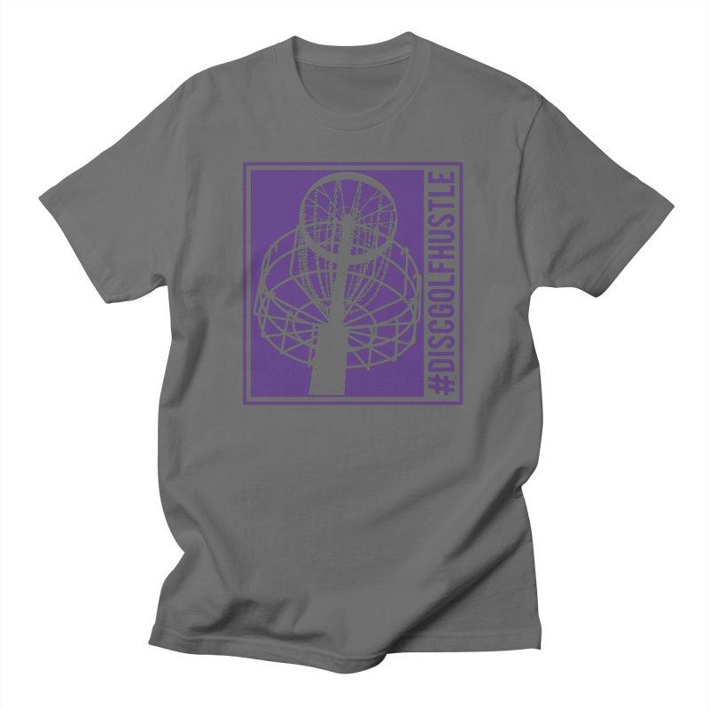 #discgolfhustle Men's T-Shirt by CATCHING CHAIN DISC GOLF BRAND