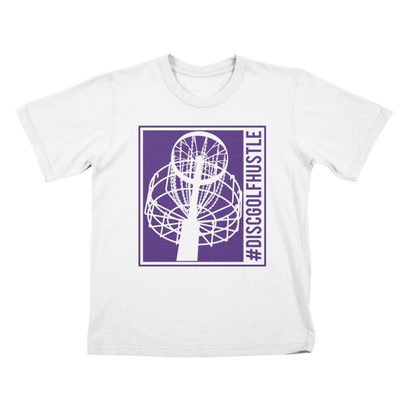 #discgolfhustle Kids T-Shirt by CATCHING CHAIN DISC GOLF BRAND