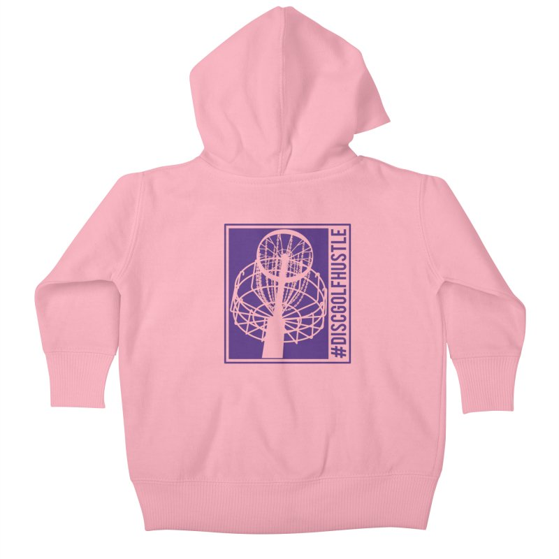#discgolfhustle Kids Baby Zip-Up Hoody by CATCHING CHAIN DISC GOLF BRAND