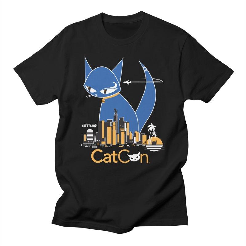 CatCon Kittyland Skyline Men's T-Shirt by CatCon's Artist Shop
