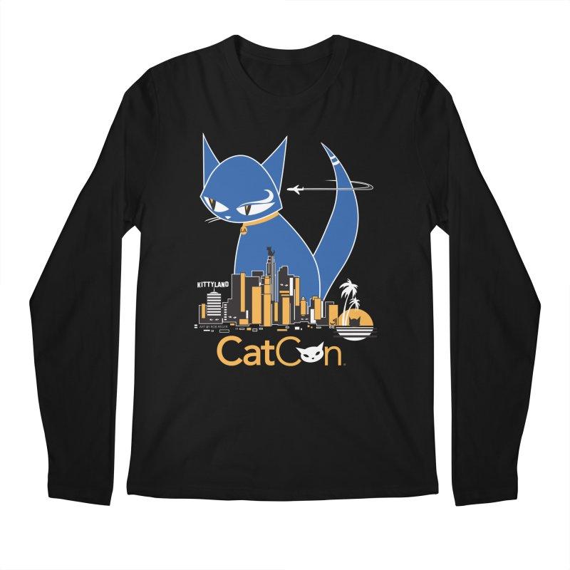 CatCon Kittyland Skyline Men's Longsleeve T-Shirt by CatCon's Artist Shop
