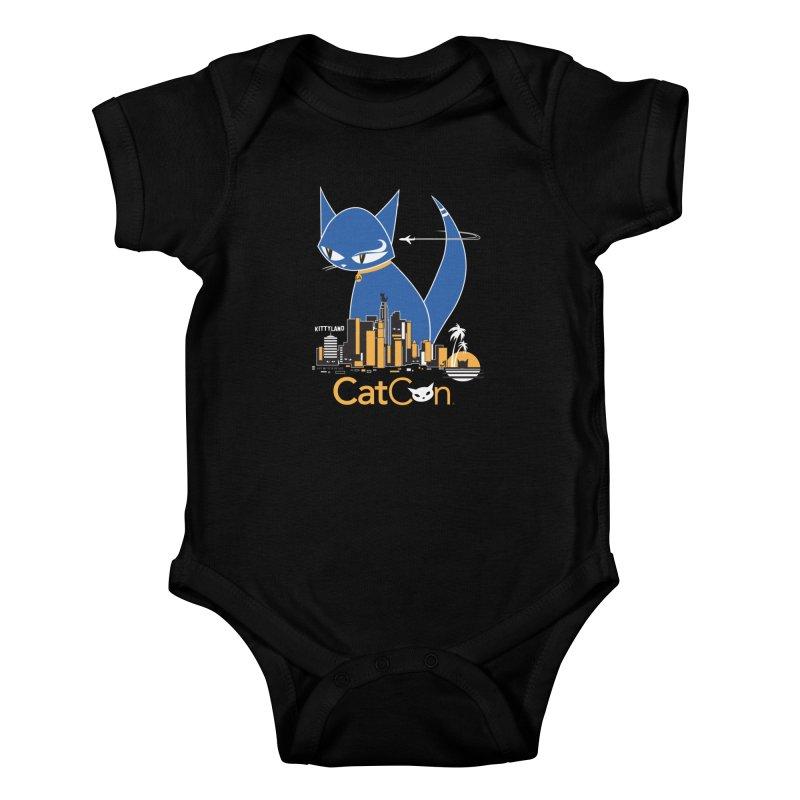 CatCon Kittyland Skyline Kids Baby Bodysuit by CatCon's Artist Shop