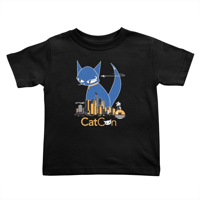 CatCon Kittyland Skyline Kids Toddler T-Shirt by CatCon's Artist Shop