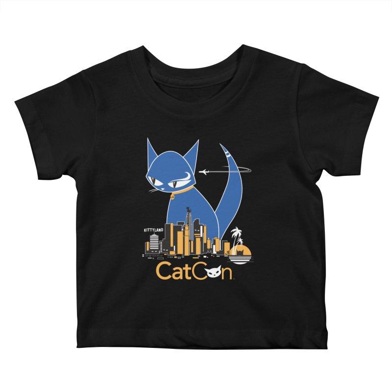 CatCon Kittyland Skyline Kids Baby T-Shirt by CatCon's Artist Shop