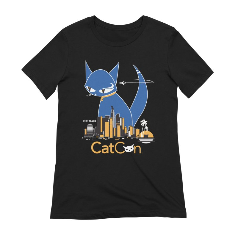 CatCon Kittyland Skyline Women's T-Shirt by CatCon's Artist Shop