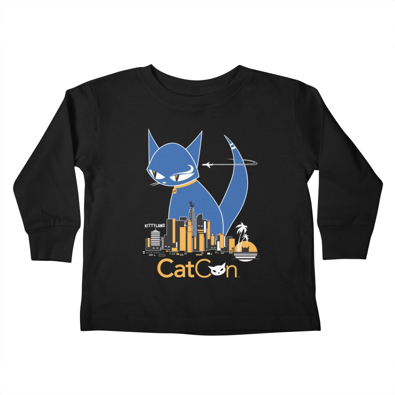 CatCon Kittyland Skyline Kids Toddler Longsleeve T-Shirt by CatCon's Artist Shop