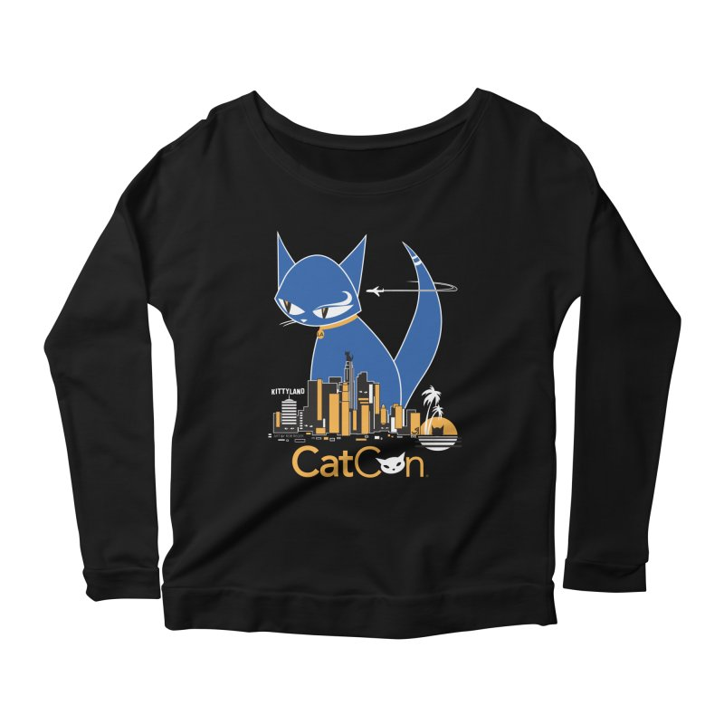CatCon Kittyland Skyline Women's Longsleeve T-Shirt by CatCon's Artist Shop
