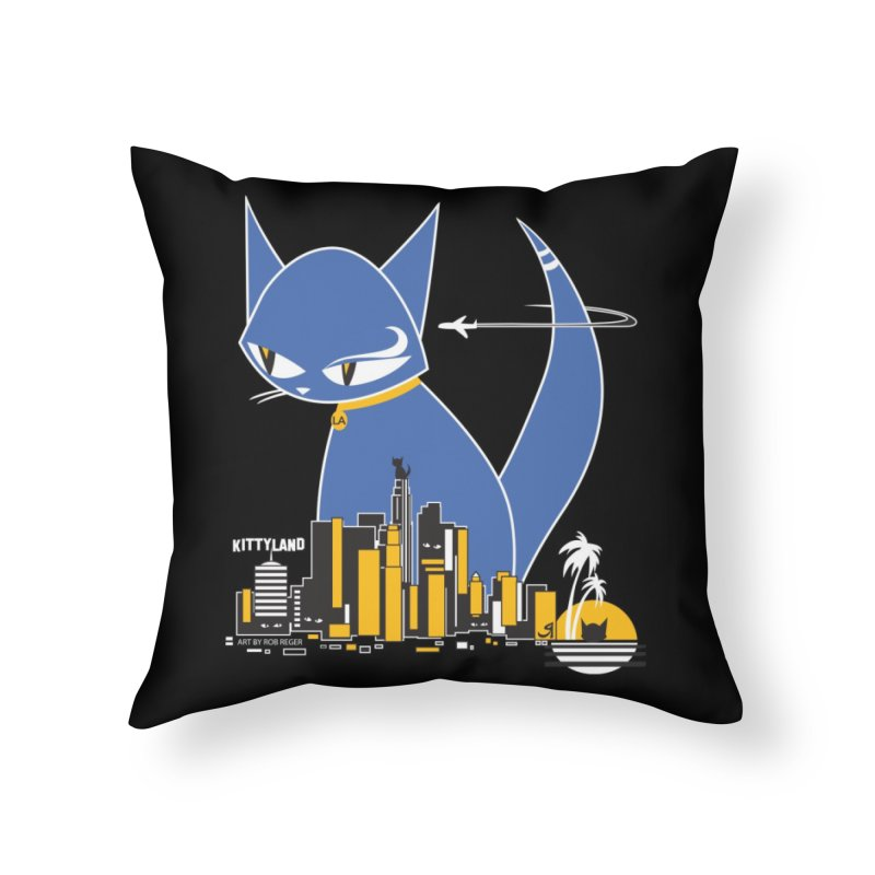 CatCon Kittyland Skyline Home Throw Pillow by CatCon's Artist Shop