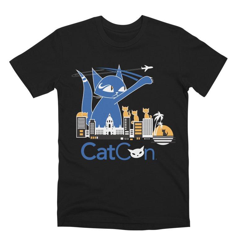 CatCon Purr-sadena Skyline Men's T-Shirt by CatCon's Artist Shop