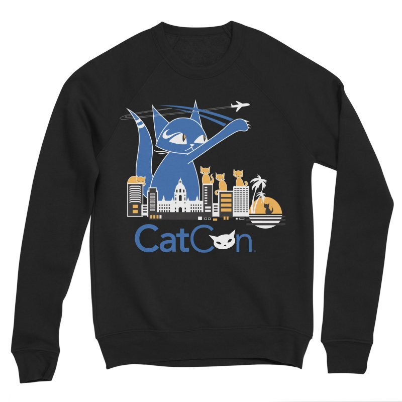 CatCon Purr-sadena Skyline Men's Sweatshirt by CatCon's Artist Shop