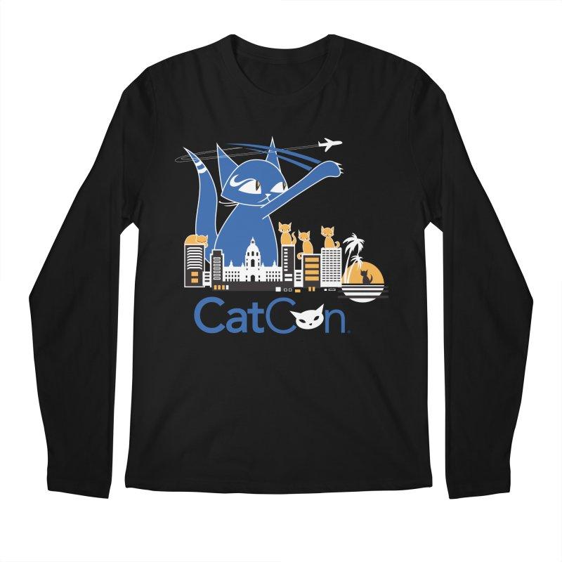CatCon Purr-sadena Skyline Men's Longsleeve T-Shirt by CatCon's Artist Shop