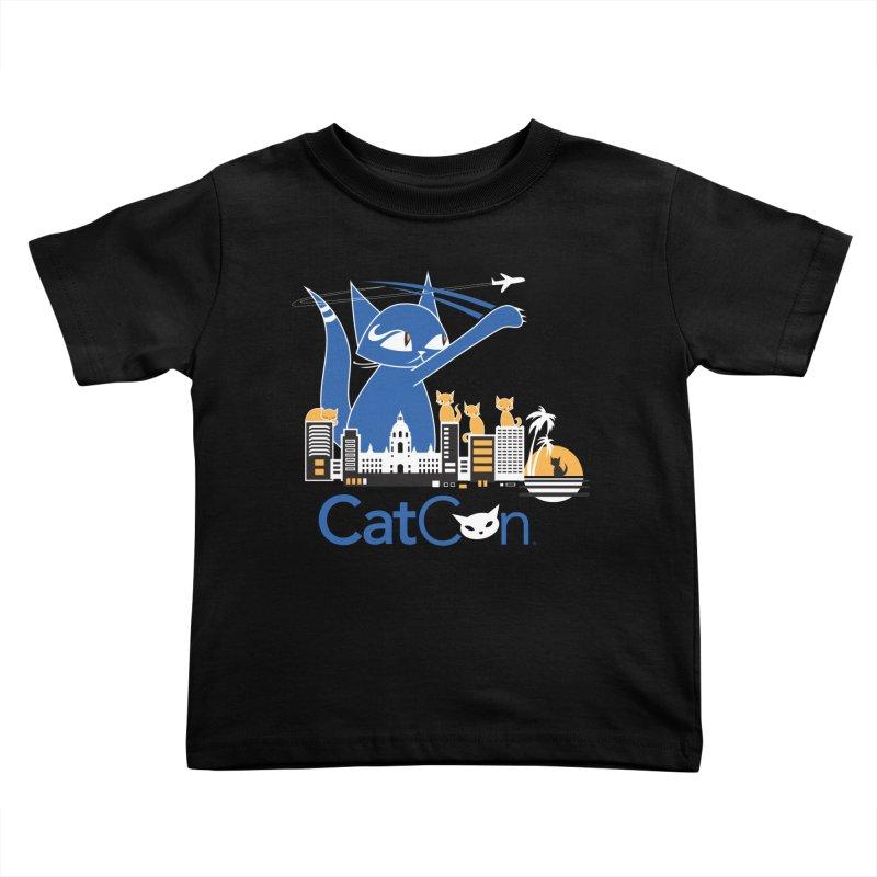 CatCon Purr-sadena Skyline Kids Toddler T-Shirt by CatCon's Artist Shop