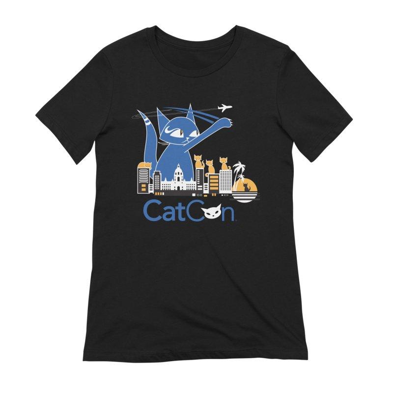 CatCon Purr-sadena Skyline Women's T-Shirt by CatCon's Artist Shop
