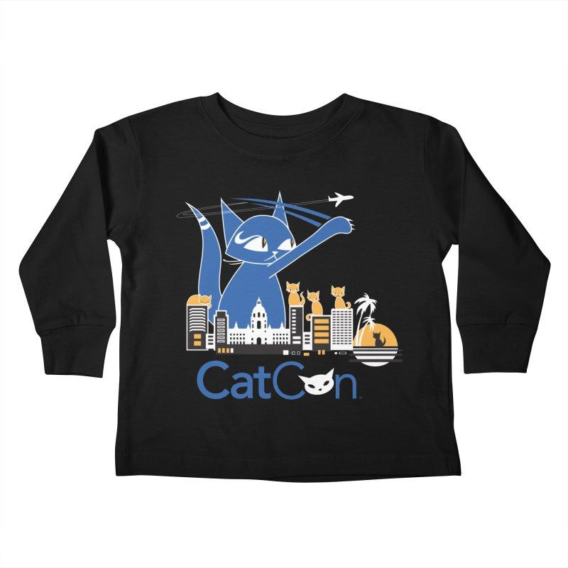 CatCon Purr-sadena Skyline Kids Toddler Longsleeve T-Shirt by CatCon's Artist Shop