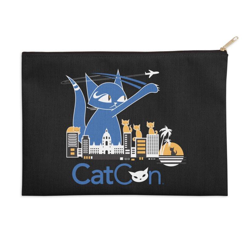 CatCon Purr-sadena Skyline Accessories Zip Pouch by CatCon's Artist Shop