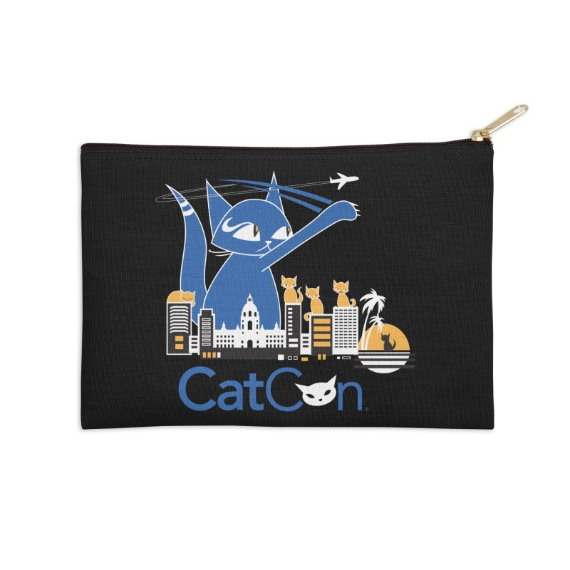 CatCon Purr-sadena Skyline Accessories Zip Pouch by CatCon's Artist Shop