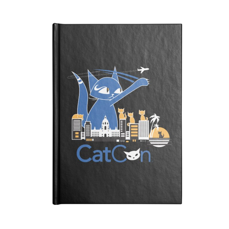 CatCon Purr-sadena Skyline Accessories Notebook by CatCon's Artist Shop