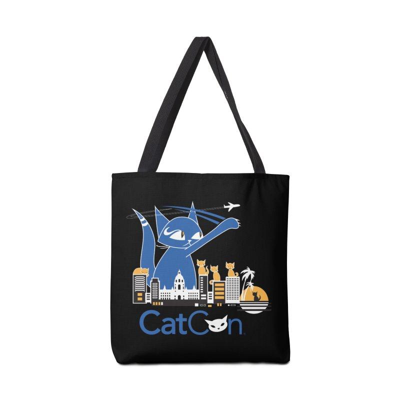 CatCon Purr-sadena Skyline Accessories Bag by CatCon's Artist Shop