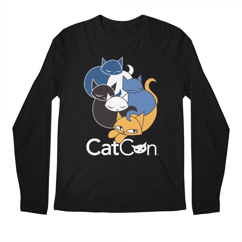 CatCon Five Cats Men's Longsleeve T-Shirt by CatCon's Artist Shop
