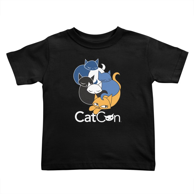 CatCon Five Cats Kids Toddler T-Shirt by CatCon's Artist Shop