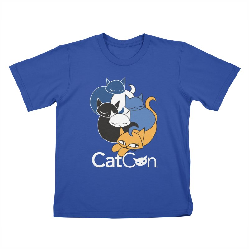 CatCon Five Cats Kids T-Shirt by CatCon's Artist Shop