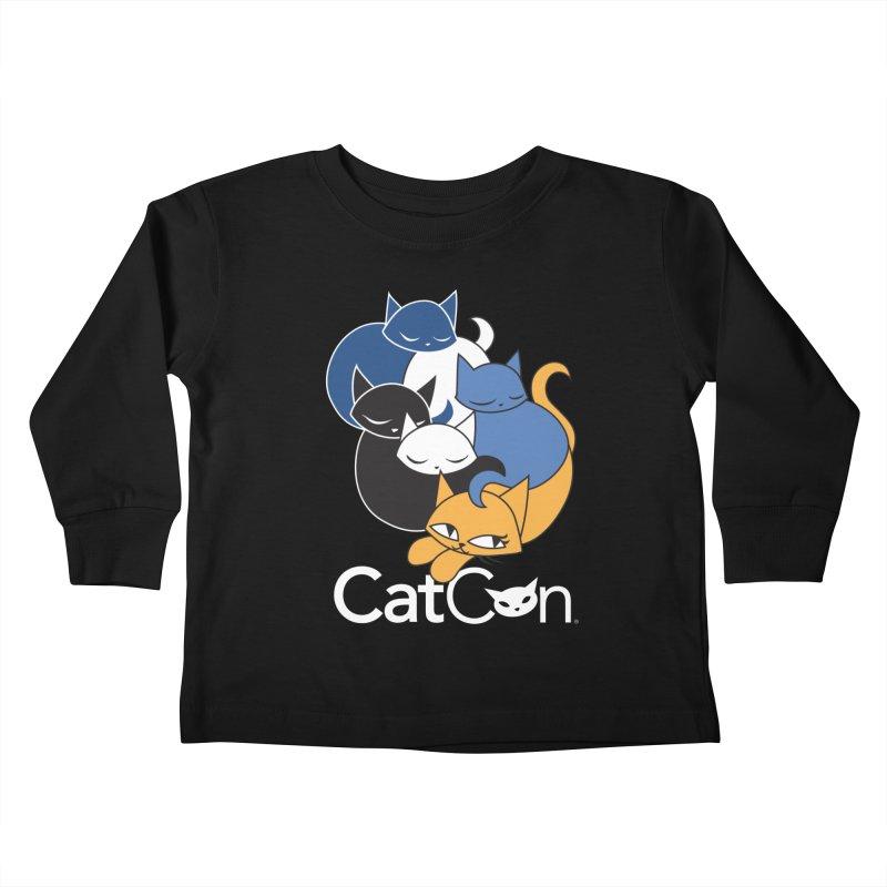 CatCon Five Cats Kids Toddler Longsleeve T-Shirt by CatCon's Artist Shop