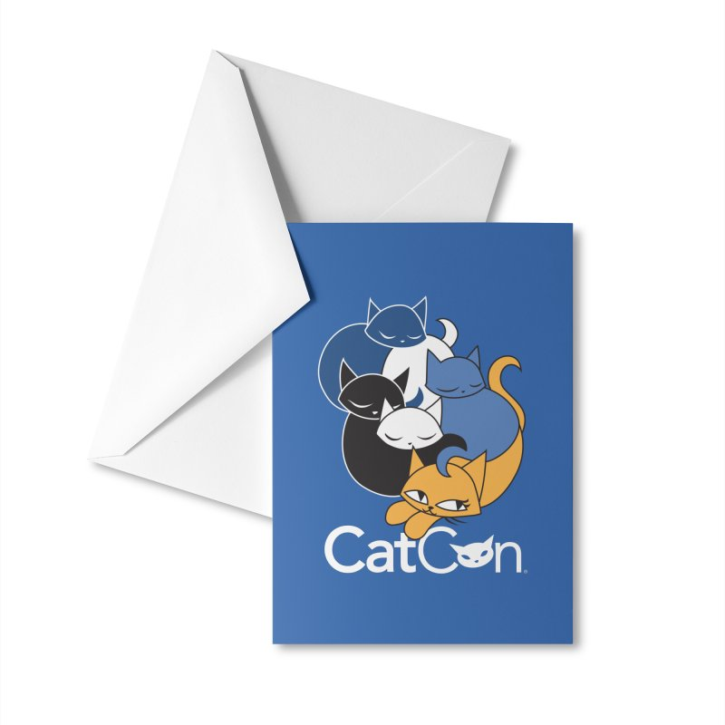 CatCon Five Cats Accessories Greeting Card by CatCon's Artist Shop
