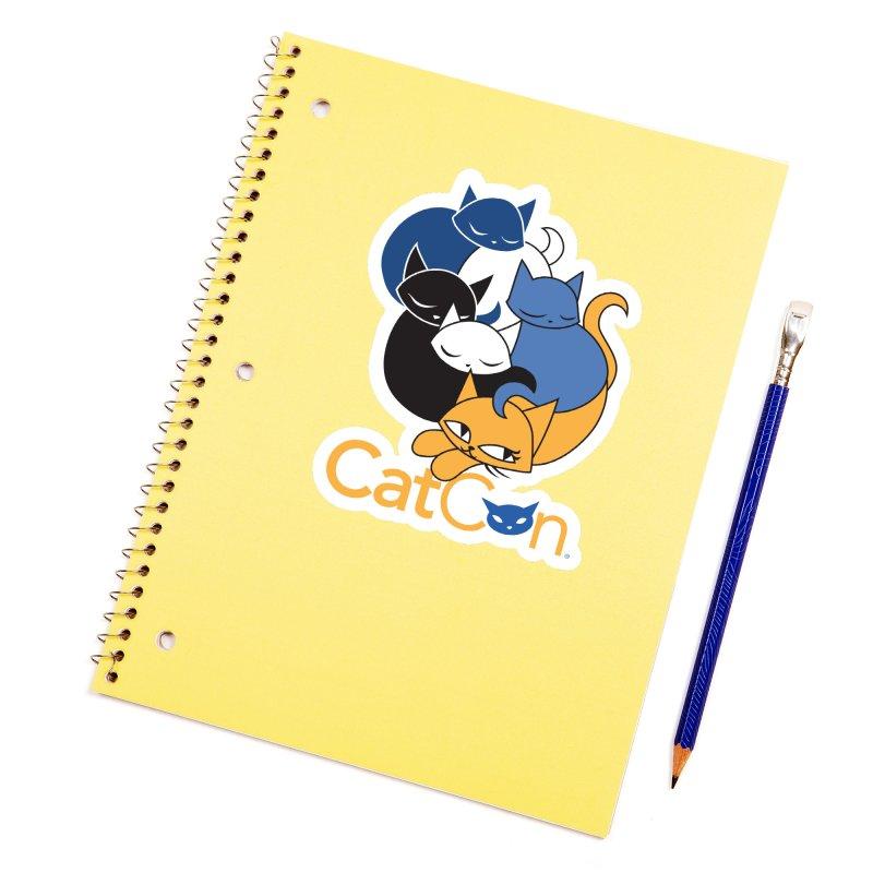 CatCon Five Cats Accessories Sticker by CatCon's Artist Shop