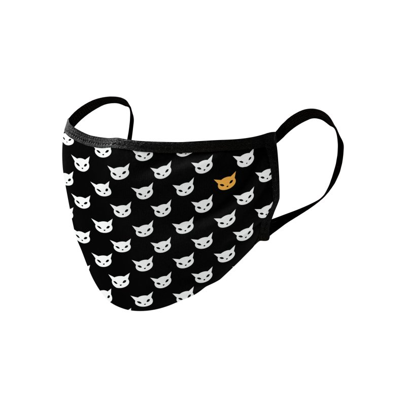 CatCon Pattern on Black Accessories Face Mask by CatCon's Artist Shop
