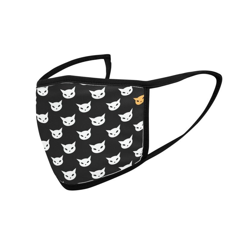 CatCon Pattern on Black Accessories Face Mask by CatCon's Artist Shop