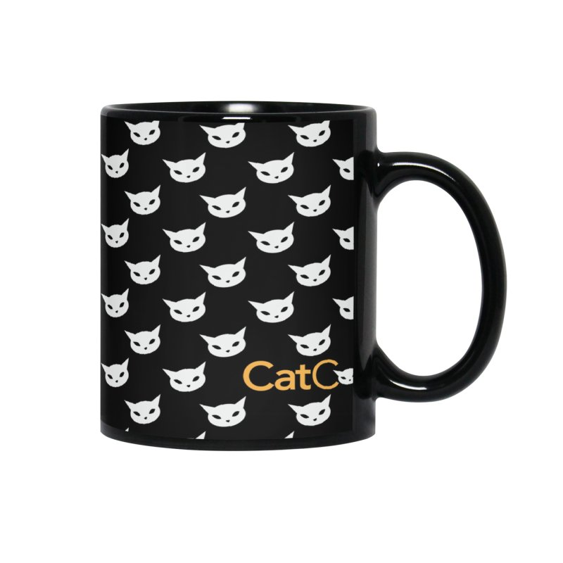 CatCon Pattern on Black Accessories Mug by CatCon's Artist Shop