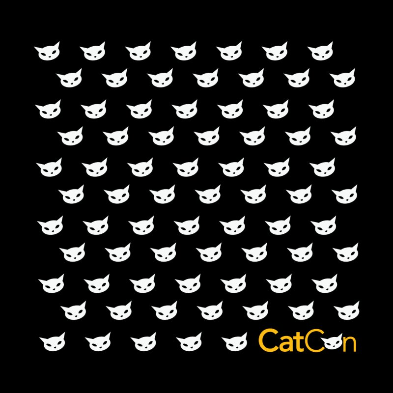 CatCon Pattern on Black Accessories Skateboard by CatCon's Artist Shop