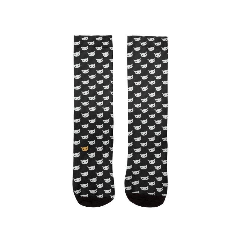 CatCon Pattern on Black Men's Socks by CatCon's Artist Shop