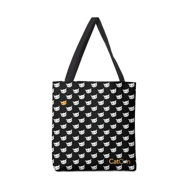 CatCon Pattern on Black Accessories Bag by CatCon's Artist Shop