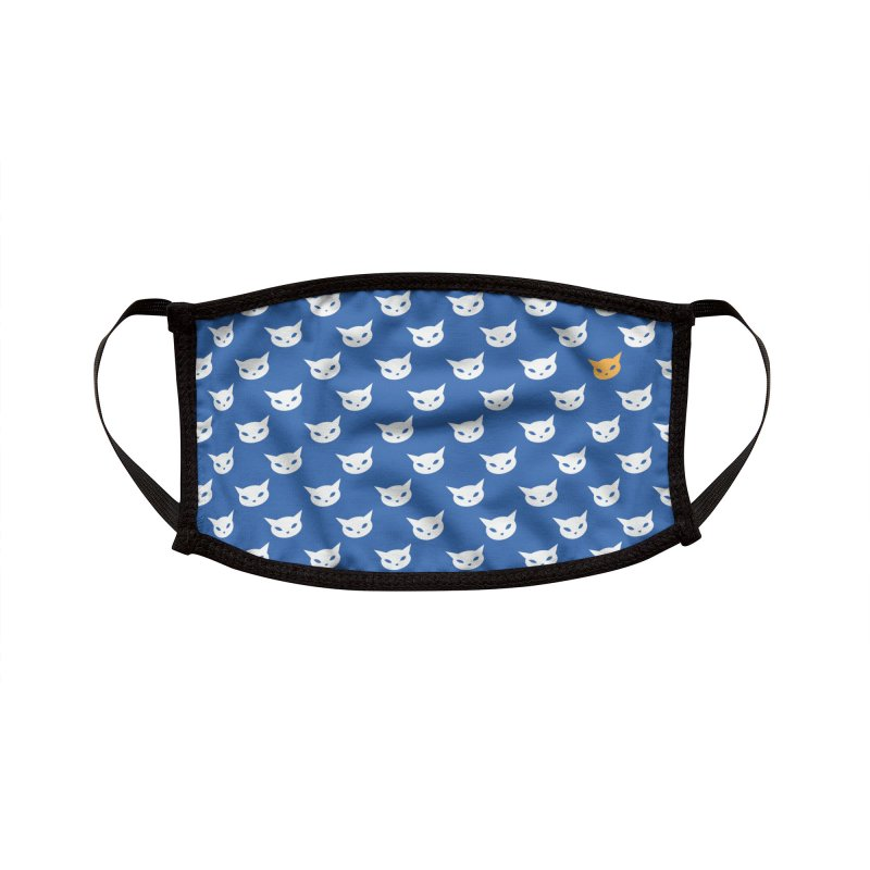 CatCon Pattern on Blue Accessories Face Mask by CatCon's Artist Shop