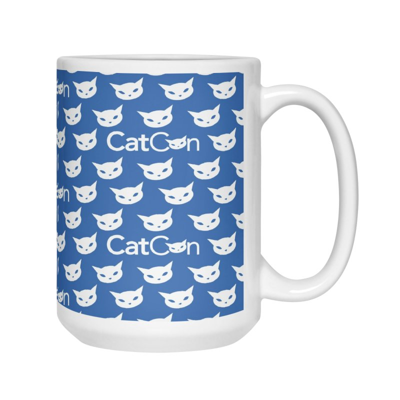 CatCon Pattern on Blue Accessories Mug by CatCon's Artist Shop