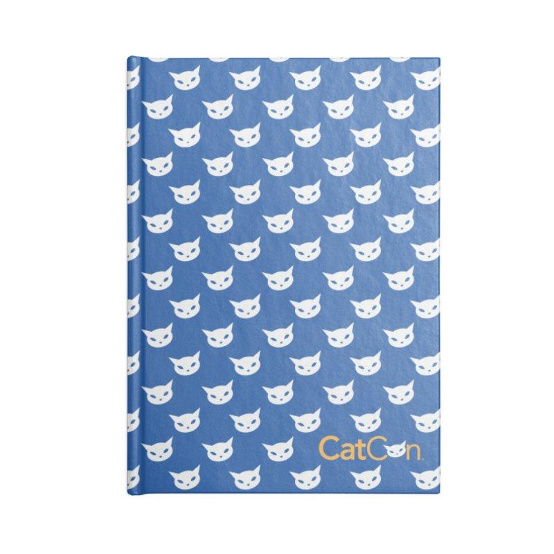 CatCon Pattern on Blue Accessories Notebook by CatCon's Artist Shop