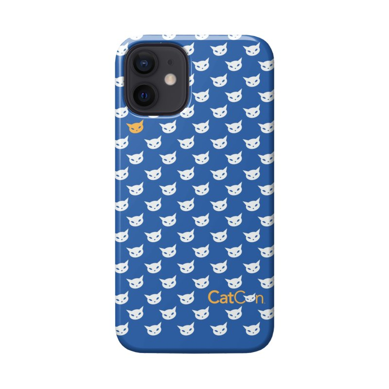 CatCon Pattern on Blue Accessories Phone Case by CatCon's Artist Shop