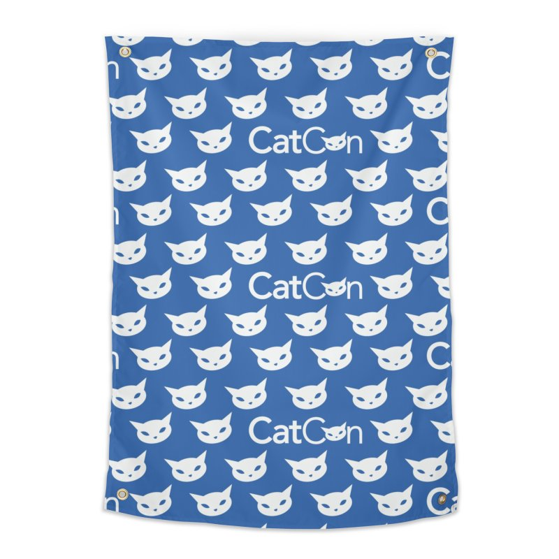 CatCon Pattern on Blue Home Tapestry by CatCon's Artist Shop