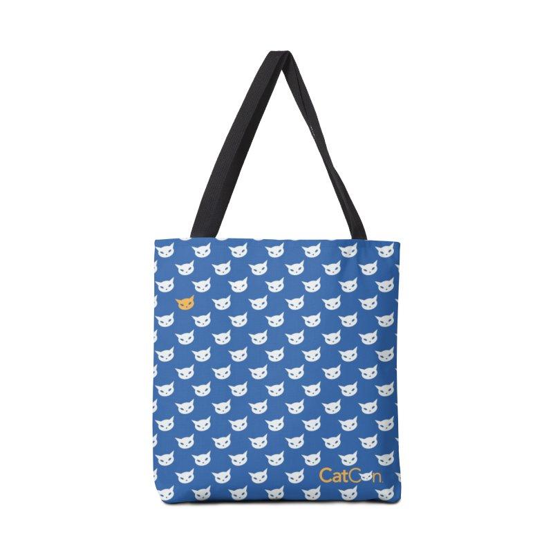 CatCon Pattern on Blue Accessories Bag by CatCon's Artist Shop